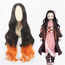 "Demon Slayer Kimetsu no Yaiba Nezuko Kamado Cosplay Long Wave Wigs Hair 39"""