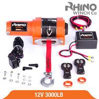 Treuil électriques 12v Synthétique Récupération 4x4 Bateau 1360kg Winch - RHINO