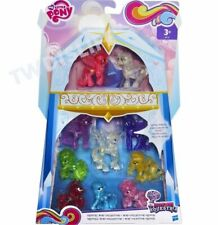 NEW My Little Pony Crystal Sparkle Mini Collection 10 Glitter Figure Pack