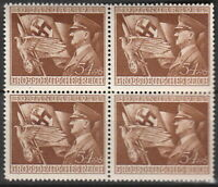SALE Stamp Germany Mi 865 Sc B252 Block WWII 3rd Reich Adolf Hitler AH Flag MNH