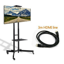 """Floor TV Stand with Swivel Mount for 32-65"""" inch LED LCD Flat Curved Screen TVs"""