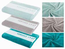 Versace 19.69 Strandtuch Duschtuch Handtuch 100% Baumwolle mint türkis grau groß