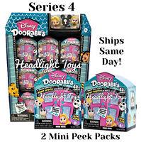 Lot of 2 Series 4 Disney Doorables Mini Peek Packs Surprise Figures Doll NEW 1 3