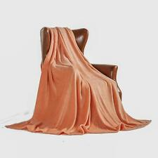 "King Plush Coral Blanket 90"" x 102"" Velvet Soft Warm Blanket Throw Fleece"