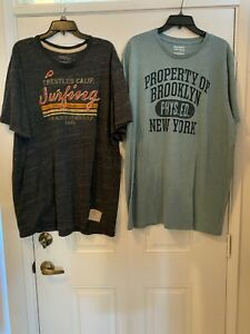 Lot of Mens Old Navy Short Sleeve T-Shirts Green and Heathered Gray Both XXXL