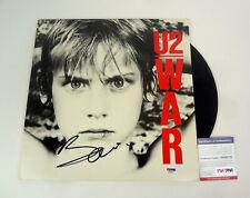 Bono U2 Signed Autograph War Vinyl Record Album PSA/DNA COA