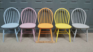 Brand New Painted Windsor Back Kitchen Dining Chairs