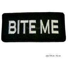 """Embroidered 3"""" Bite Me Sew or Iron on Patch Biker Patch UK Seller"""