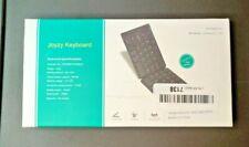 Joyzy Bluetooth Folding Keyboard Rechargeable Full Size - White