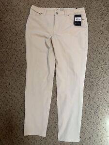Nike Slim Fit Golf Pants Mid Rise Dri-Fit Zip Fly Women's SZ 12 BV6081-100