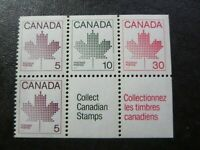 """`CANADA STAMPS  #BK82 MINT 1982 """"MAPLE LEAF ISSUE"""" PANE 945a"""