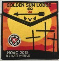 Boy Scout OA 492 Golden Sun 2015 Centennial NOAC Set