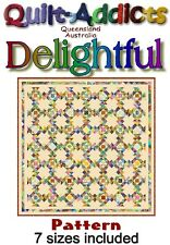 DELIGHTFUL - MULTI SIZED Quilt-Addicts Pattern - 6 Sizes included