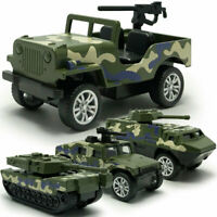 1:60 4PCS Military Vehicle Army Tank Jeep Model Car Diecast Toy Kids Camouflage