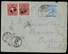 INDIA to USA 1900 Postage Due Cover Kurnool to Bouckville NY