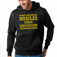 Muscles under Construction Sport Gym Spaß Bodybuilding Kapuzenpullover Hoodie