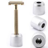 Men's Shaving Safety Razor Stand Stainless Steel Bathroom Double Edg Neue /