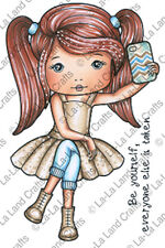 New La La Land Craft SELFIE MOLLI Cling Rubber Stamp Girl Cellphone Teen Picture