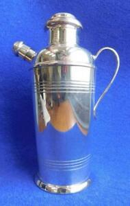 Beautiful Art Deco EP Silver Cocktail Shaker Carrington England 1920s