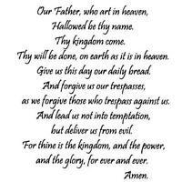 Lord's Prayer UNMOUNTED rubber stamp, Christian bible verse, religious #16