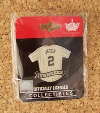 Derek Jeter NY New York Yankees jersey pin formerly Yankee Stadium only yellowed