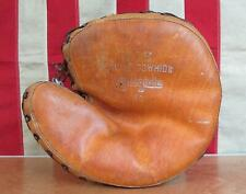 Vintage 1930s Yale Co.Leather Catchers Mitt 'Collegiate' Baseball Glove Antique
