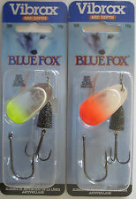 2 - BLUE FOX - Classic Vibrax Spinners - Size 4 - 3/8 oz.