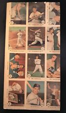 1959 Fleer Ted Williams Uncut Sheet 12 Cards Boston Red Sox VG 14 X 7