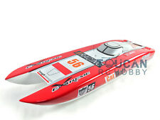 KIT E51 Fiber Glass Well-painted Boat Hull only for Advancec Player Red