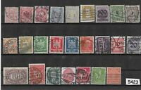 #5423  Small stamp set / GERMANY /  Nice mix before 1930  /  Pre Third Reich era