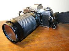 Spiegelreflexkamera Minolta XG-M -& Suntax 9000T -Monitor Drive 1&  3 Objektive
