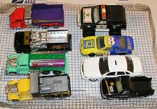 Mixed Lot of 13 LARGER sized used toy cars/trucks, kid played with.