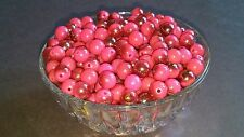 Wholesale 10MM Dark Pink Gunmetal Half Plated Round Spacer Loose Beads 75pc. New