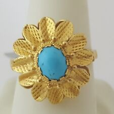 22k Yellow Gold Turquoise Woman Ring