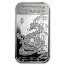 1 oz 999 Silber argenté Lingots Lunaire II Année le Serpent Year of the 2013