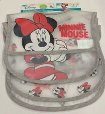 Disney Minnie Mouse Toddler Bib Water Resistant 3 Pack