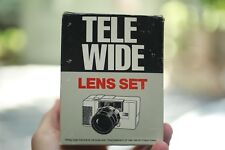 Vintage NOS New Tele Wide Lens Set For Olympus AFL 35mm Film Camera !