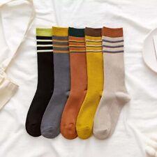 Fashion Women Socks Autumn Personality Striped Long Cotton Socks Comfortable