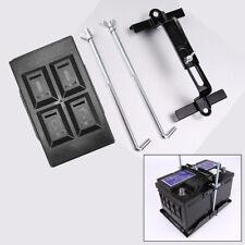 Anti-corrosion Car Adjustable Storage Battery Tray + Hold Down Clamp Bracket Kit