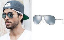 Ray Ban Aviator RB3025 029/30 Sunglasses Gunmetal Flash Silver Shades Unisex