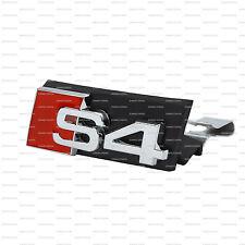 NUOVO S4 GRILL Badge Emblema Decalcomania Adesivo Logo Segno ANTERIORE A3 RS4 RS S GRIGLIA AUDI