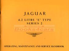 E-TYPE XKE OWNERS MANUAL JAGUAR BOOK HANDBOOK 1969-1971 1970
