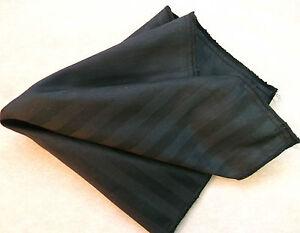 Hankie COTTON Pocket Square Handkerchief MENS Hanky BLACK STRIPED