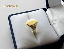 14K SOLID YELLOW GOLD MIRROR HIGH POLISH LADIES PINKY SIGNET RING SIZE 6