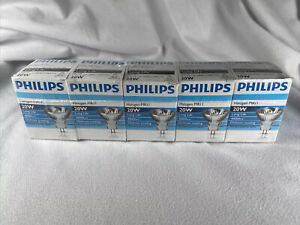 (5) Philips Lighting 378224 Halogen 20W 12V MR11 30° Beam GU4 Base Long Life
