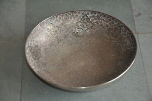 Old Brass Handcrafted Inlay Engraved Lacquer Work Fruit Bowl