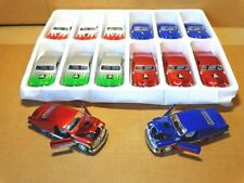 1:36 SCALE 1949 FORD CUSTOM ROD COUPE WHITE WITH RED FLAMES METALLIC TEAM