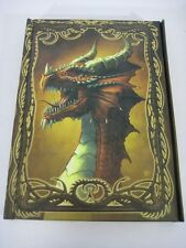 RED DRAGON Kerem Beyit Lined Blank Journal Magnetic Closure FLAWED