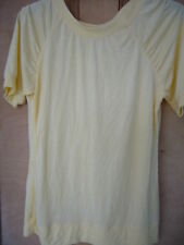 SIZE 14 PALE YELLOW SHORT SLEEVED TOP