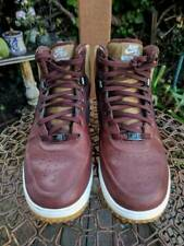 Nike Air Lunar Force 1 Umber Brown Leather Suede Watershield Duckboot 9